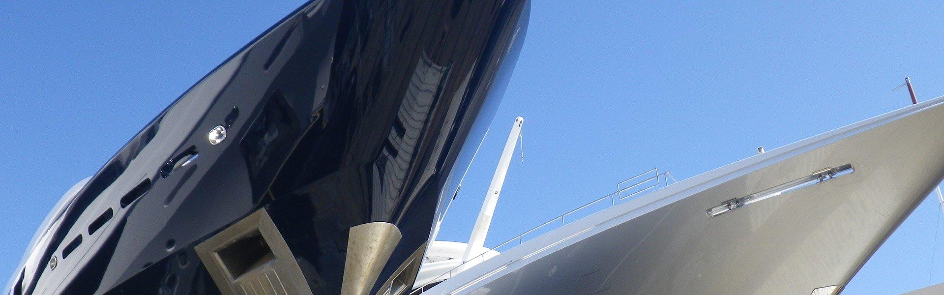 Yacht Coatings Sector – Mega Yacht Bows