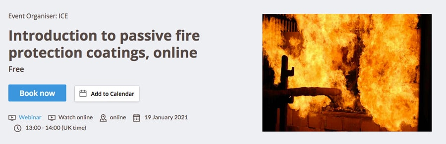 Introduction to Passive Fire Protection Coatings Webinar Banner